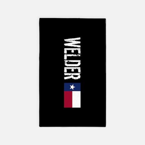 Welding: Welder (Texas Flag) Area Rug