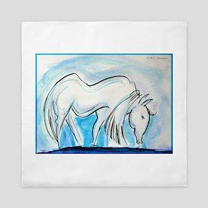Horse, animal art! Queen Duvet