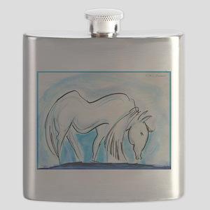 Horse, animal art! Flask
