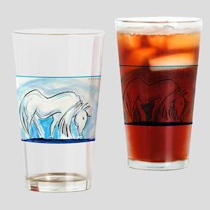 Horse, animal art! Drinking Glass