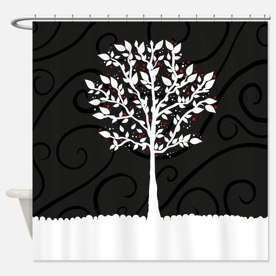 Love Tree Shower Curtain