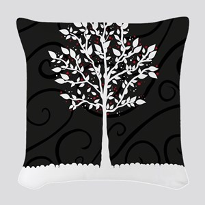 Love Tree Woven Throw Pillow