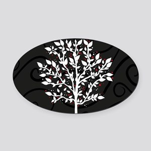 Love Tree Oval Car Magnet