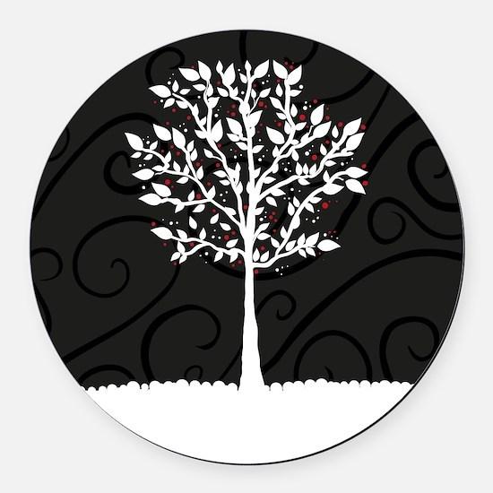Love Tree Round Car Magnet