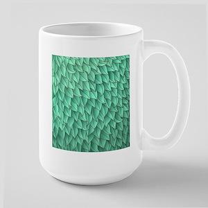 Abstract Leaves Large Mug