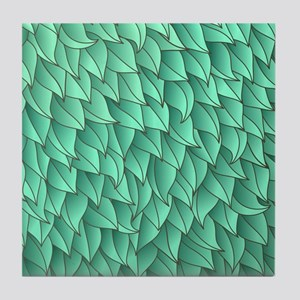 Abstract Leaves Tile Coaster
