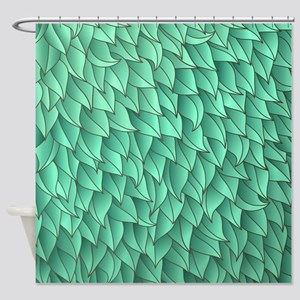 Abstract Leaves Shower Curtain