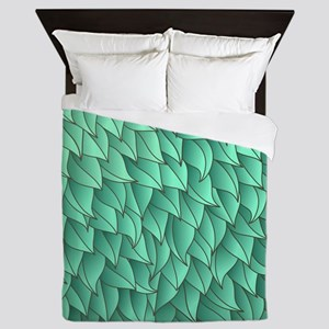Abstract Leaves Queen Duvet