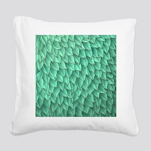 Abstract Leaves Square Canvas Pillow