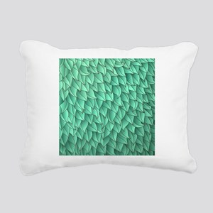 Abstract Leaves Rectangular Canvas Pillow
