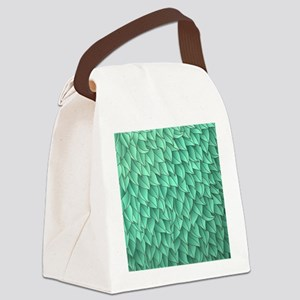 Abstract Leaves Canvas Lunch Bag