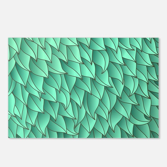 Abstract Leaves Postcards (Package of 8)