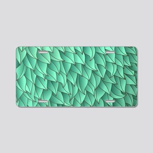 Abstract Leaves Aluminum License Plate