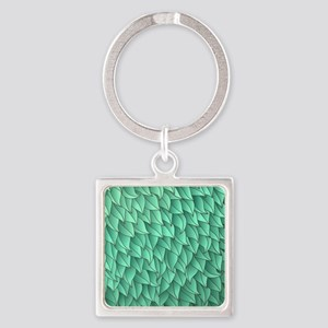Abstract Leaves Square Keychain