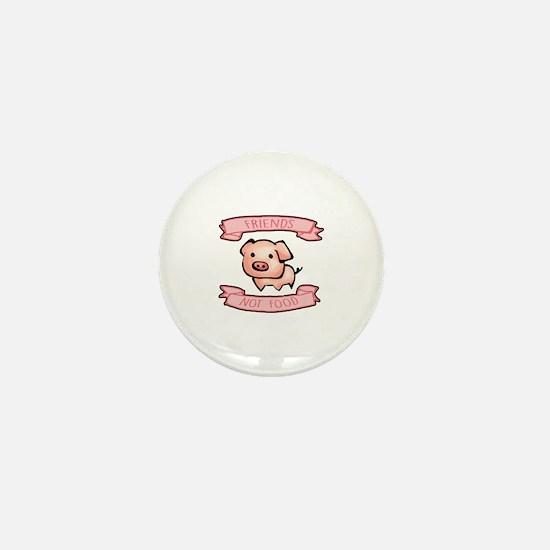 Funny Vegetarian shopping Mini Button