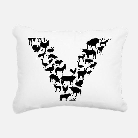 Funny Veganism Rectangular Canvas Pillow