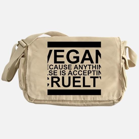 Funny Vegetarian shopping Messenger Bag