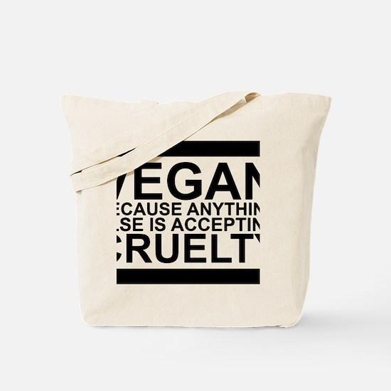 Funny Vegan compassion Tote Bag