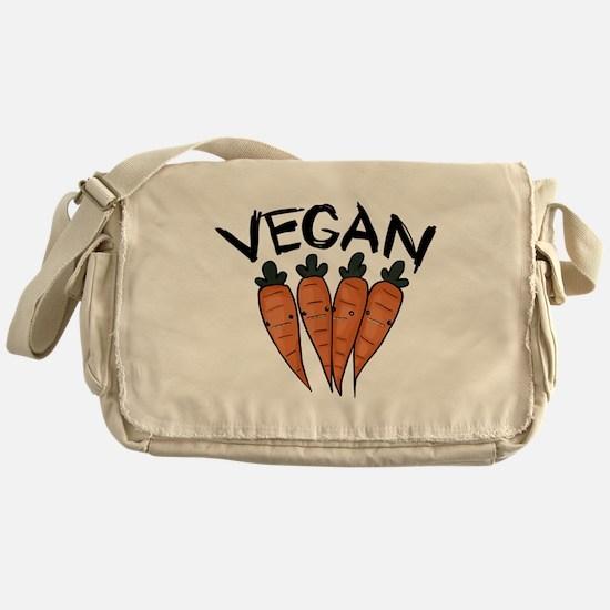 Cute Vegetarian shopping Messenger Bag