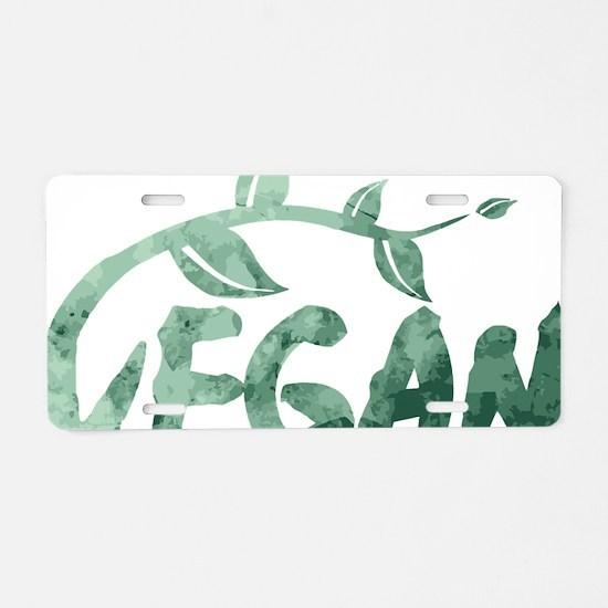Cute Tofu Aluminum License Plate