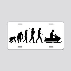 Evolution Snowmobile Aluminum License Plate