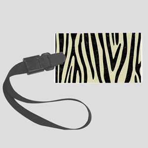 SKIN4 BLACK MARBLE & BEIGE LINEN Large Luggage Tag