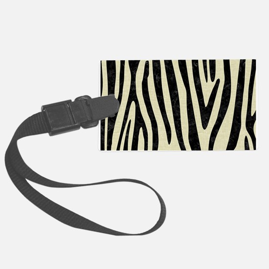 SKIN4 BLACK MARBLE & BEIGE LINEN Luggage Tag
