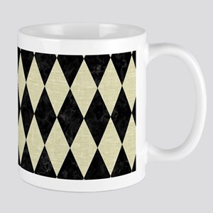 DIAMOND1 BLACK MARBLE & BEIGE LI 11 oz Ceramic Mug