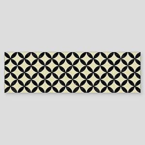 CIRCLES3 BLACK MARBLE & BEIGE LIN Sticker (Bumper)