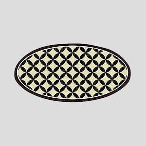 CIRCLES3 BLACK MARBLE & BEIGE LINEN (R) Patch