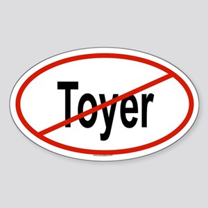 TOYER Oval Sticker
