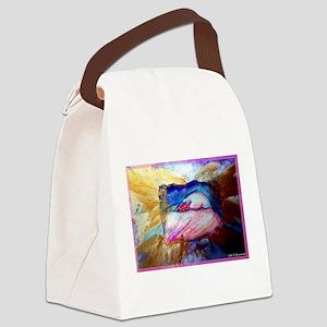 Flamingo, colorful bird art! Canvas Lunch Bag