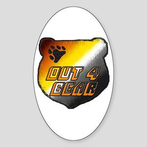 OUT 4 BEAR-BEAR PRIDE HEAD Oval Sticker