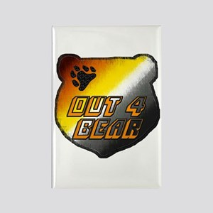 OUT 4 BEAR-BEAR PRIDE HEAD Rectangle Magnet