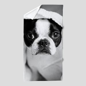 Boston Terrier Beach Towel