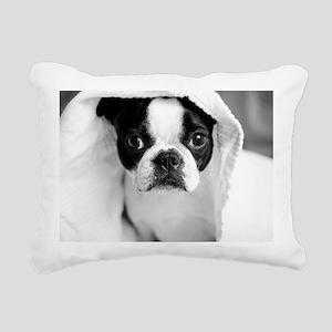 Boston Terrier Rectangular Canvas Pillow