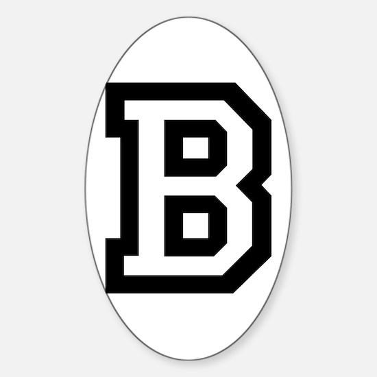 College B Sticker (Oval)
