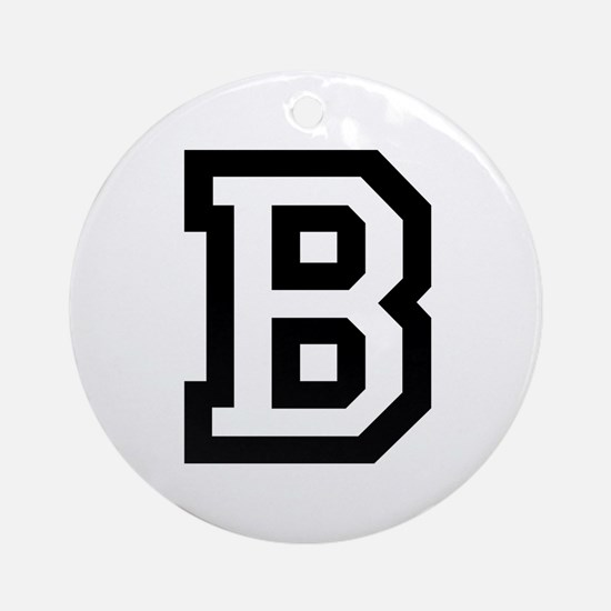 College B Round Ornament