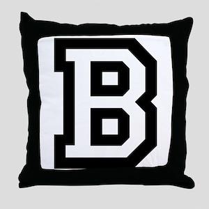 College B Throw Pillow