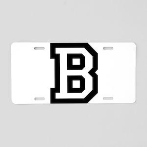 College B Aluminum License Plate
