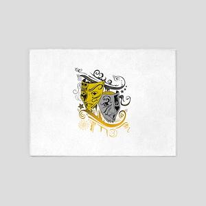 Zodiac - Gemini - Black & Gold 5'x7'Area Rug