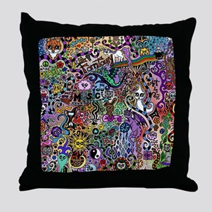 cute Doodle Throw Pillow