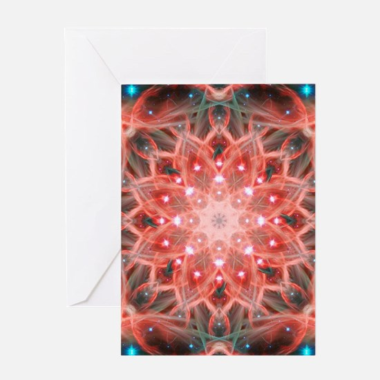 Ascension Mandala Greeting Cards