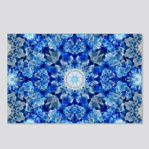 Aqua Crystal Mandala Postcards (Package of 8)
