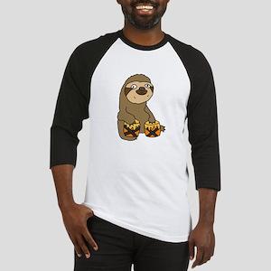 Funny Sloth Playing Bongo Drums Baseball Jersey