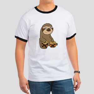 Funny Sloth Playing Bongo Drums T-Shirt