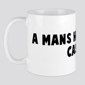 A mans home is his castle Mug