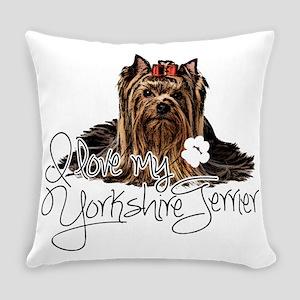 Love my Yorkie2 Everyday Pillow
