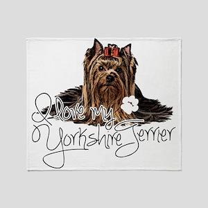 Love my Yorkie2 Throw Blanket