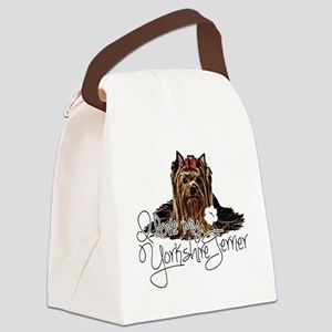 Love my Yorkie2 Canvas Lunch Bag